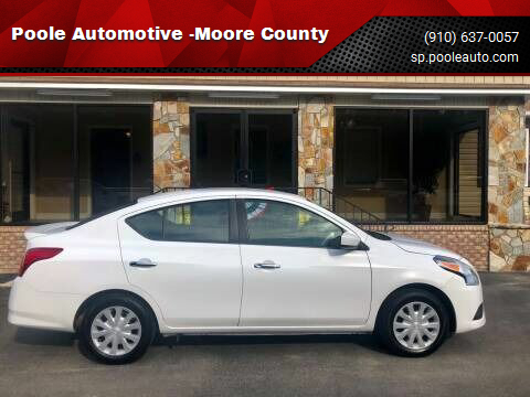 2018 Nissan Versa for sale at Poole Automotive -Moore County in Aberdeen NC