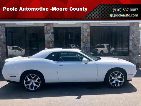 2016 Dodge Challenger for sale at Poole Automotive -Moore County in Aberdeen NC