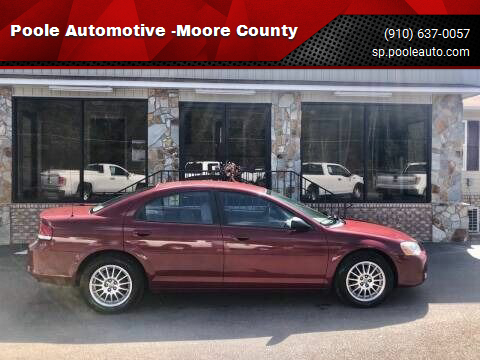 2006 Chrysler Sebring for sale at Poole Automotive -Moore County in Aberdeen NC