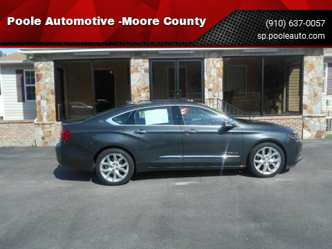 2018 Chevrolet Impala for sale at Poole Automotive -Moore County in Aberdeen NC