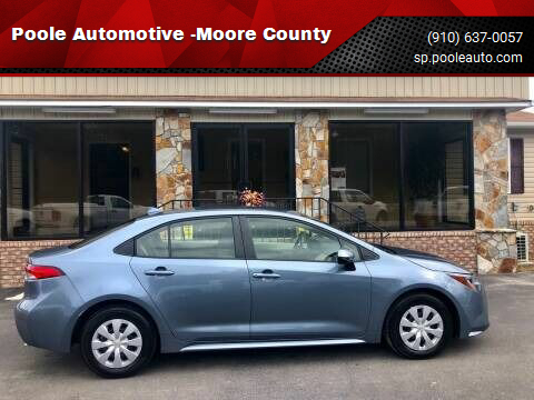 2020 Toyota Corolla for sale at Poole Automotive -Moore County in Aberdeen NC