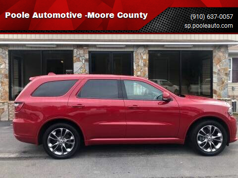 2019 Dodge Durango for sale at Poole Automotive -Moore County in Aberdeen NC