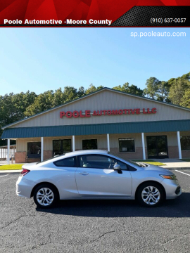 2015 Honda Civic for sale at Poole Automotive -Moore County in Aberdeen NC