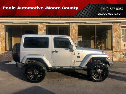 2012 Jeep Wrangler for sale at Poole Automotive -Moore County in Aberdeen NC