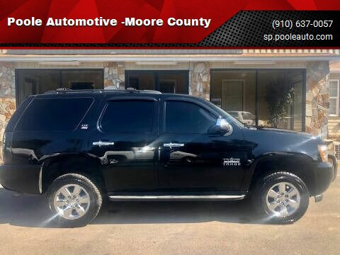 2009 Chevrolet Tahoe for sale at Poole Automotive -Moore County in Aberdeen NC