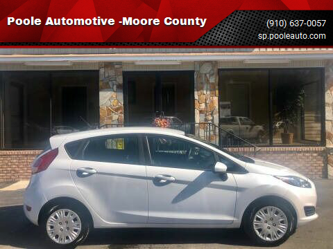 2016 Ford Fiesta for sale at Poole Automotive -Moore County in Aberdeen NC