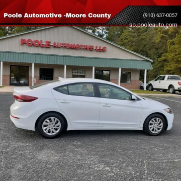 2017 Hyundai Elantra for sale at Poole Automotive -Moore County in Aberdeen NC