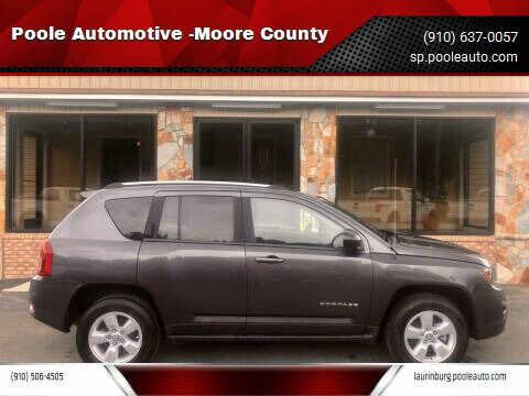 2016 Jeep Compass for sale at Poole Automotive -Moore County in Aberdeen NC