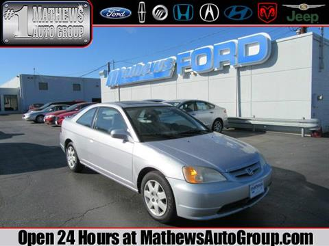 2002 Honda Civic for sale in Marion, OH