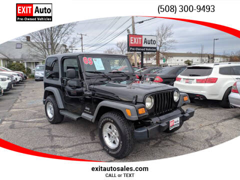 2005 Jeep Wrangler Sport for sale at EXIT  Auto in Hyannis MA