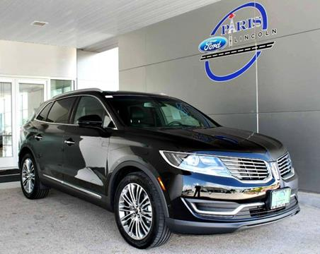 2017 Lincoln MKX for sale in Paris, TX