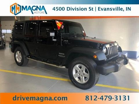 2016 Jeep Wrangler Unlimited for sale in Evansville, IN