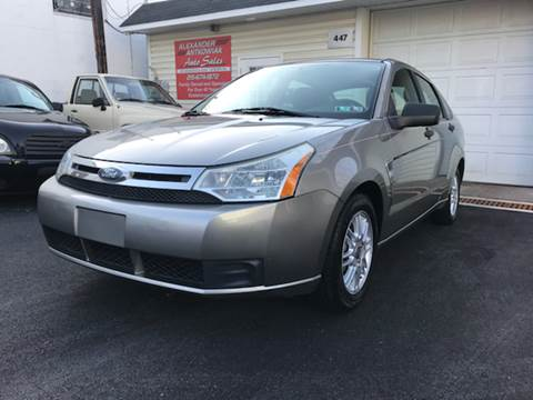 2008 Ford Focus for sale at Alexander Antkowiak Auto Sales in Hatboro PA