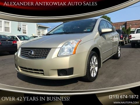 2007 Nissan Sentra for sale at Alexander Antkowiak Auto Sales in Hatboro PA