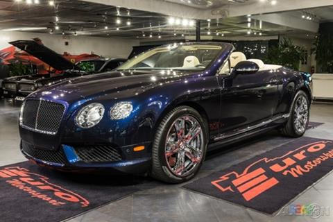 2013 Bentley Continental GTC V8 for sale in Fort Lauderdale FL