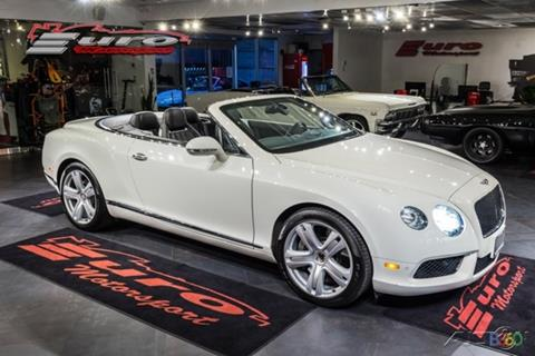 2013 Bentley Continental GTC V8 for sale in Fort Lauderdale, FL