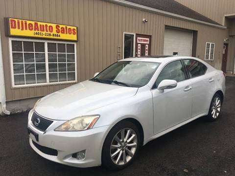 2009 Lexus IS 250 for sale at Dijie Auto Sale and Service Co. in Johnston RI