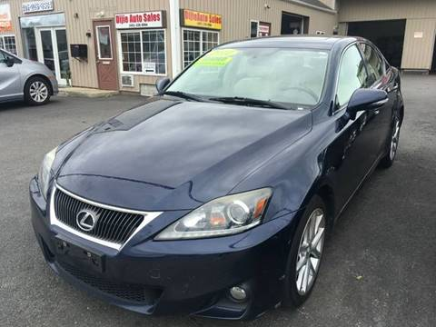2012 Lexus IS 250 for sale at Dijie Auto Sale and Service Co. in Johnston RI