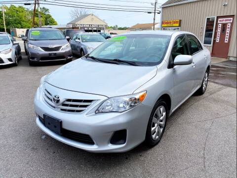 2013 Toyota Corolla for sale at Dijie Auto Sale and Service Co. in Johnston RI