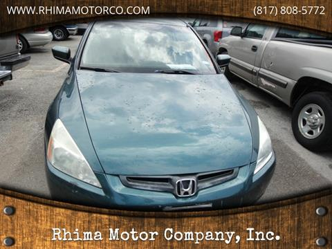 2003 Honda Accord for sale at Rhima Motor Company, Inc. in Haltom City TX