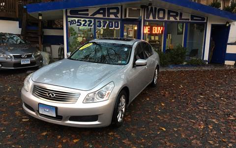 2009 Infiniti G37 Sedan for sale at Car World Inc in Arlington VA