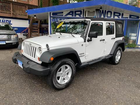 2013 Jeep Wrangler Unlimited for sale at Car World Inc in Arlington VA