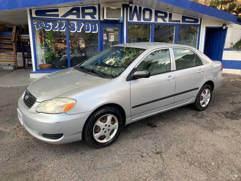2005 Toyota Corolla for sale at Car World Inc in Arlington VA