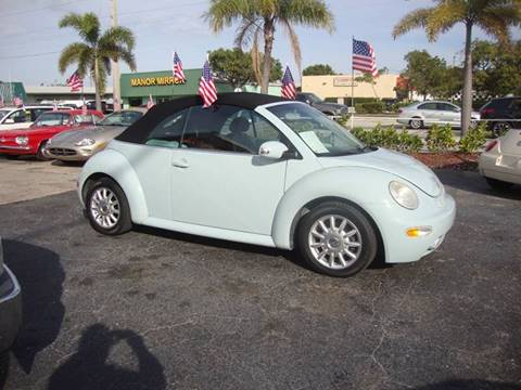 2004 Volkswagen Beetle Convertible for sale at TOP TWO USA INC in Oakland Park FL