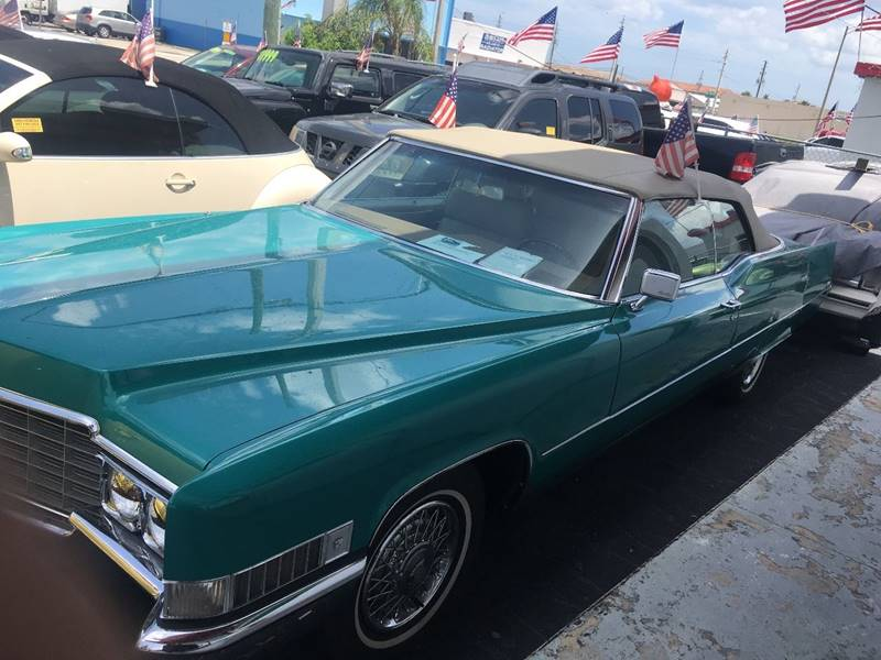 1969 Cadillac DeVille for sale at TOP TWO USA INC in Oakland Park FL