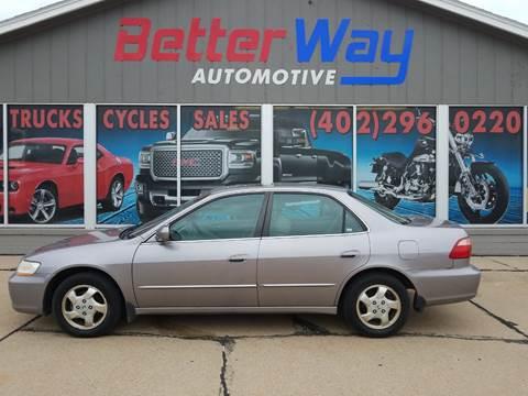 2000 Honda Accord EX for sale at Betterway Automotive Inc in Plattsmouth NE