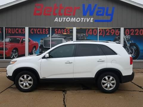 2011 Kia Sorento LX for sale at Betterway Automotive Inc in Plattsmouth NE