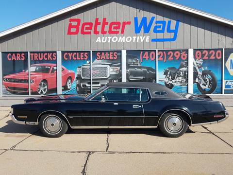 1972 Lincoln Mark IV for sale at Betterway Automotive Inc in Plattsmouth NE