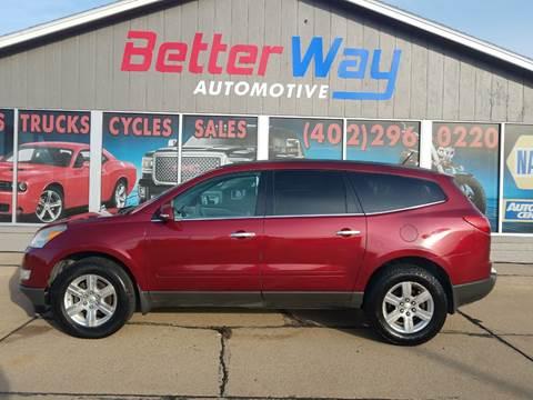 2011 Chevrolet Traverse LT for sale at Betterway Automotive Inc in Plattsmouth NE