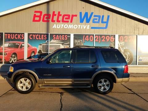 2004 Ford Explorer Eddie Bauer for sale at Betterway Automotive Inc in Plattsmouth NE