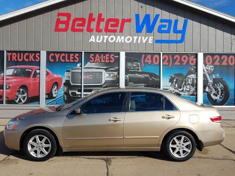 2003 Honda Accord for sale at Betterway Automotive Inc in Plattsmouth NE