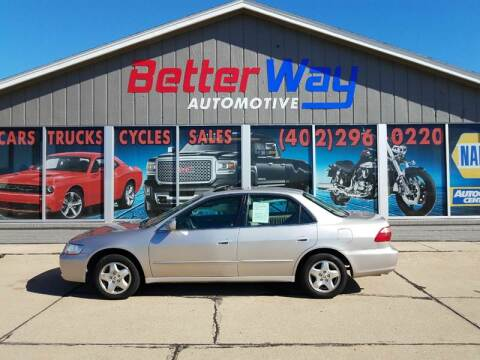 1998 Honda Accord for sale at Betterway Automotive Inc in Plattsmouth NE