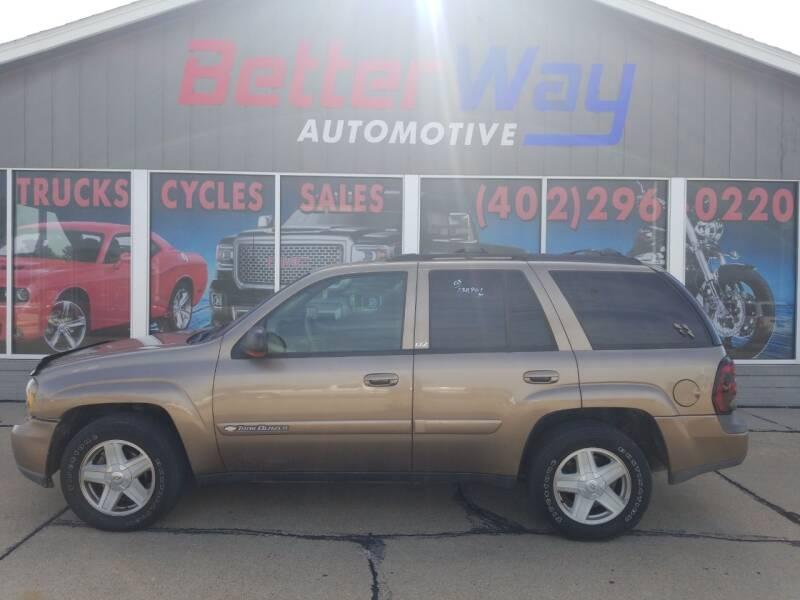2003 Chevrolet TrailBlazer for sale at Betterway Automotive Inc in Plattsmouth NE