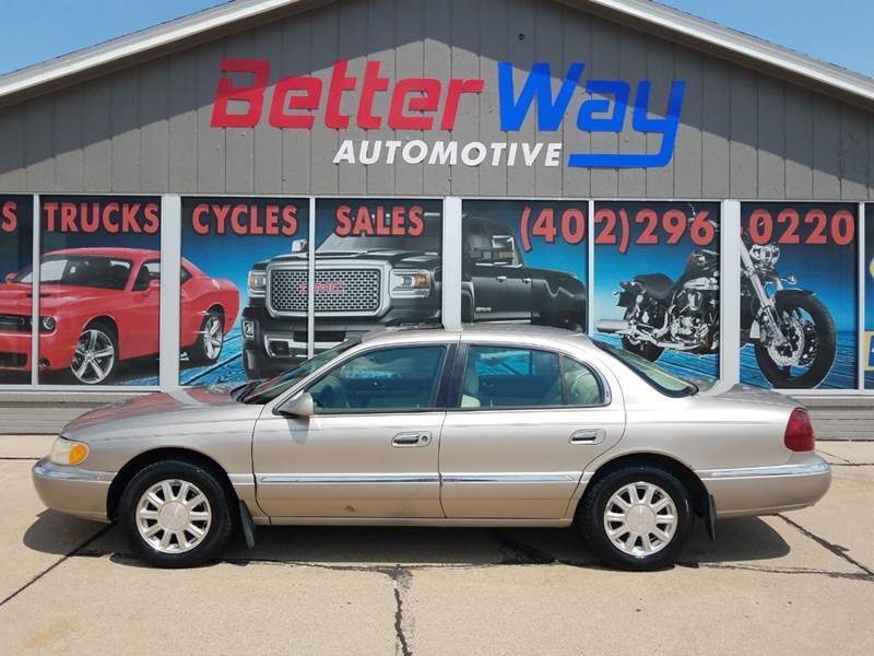 2002 Lincoln Continental for sale at Betterway Automotive Inc in Plattsmouth NE