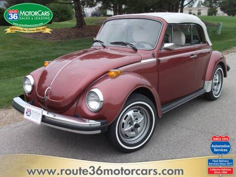 1978 Volkswagen Beetle Convertible for sale at ROUTE 36 MOTORCARS in Dublin OH