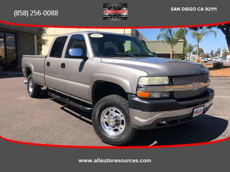 2002 Chevrolet Silverado 2500HD For Sale At Automotive Resources In San  Diego CA