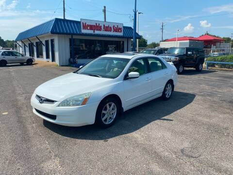 2003 Honda Accord for sale at Memphis Auto Sales in Memphis TN