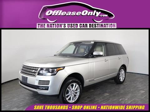 2016 Land Rover Range Rover for sale in North Lauderdale, FL