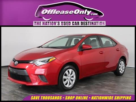 2016 Toyota Corolla for sale in North Lauderdale, FL