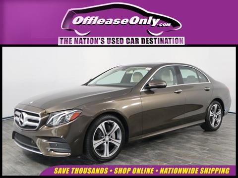 2017 Mercedes-Benz E-Class for sale in North Lauderdale, FL