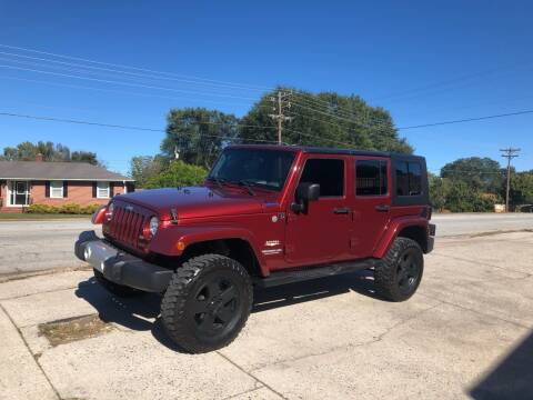 2010 Jeep Wrangler Unlimited for sale at E Motors LLC in Anderson SC