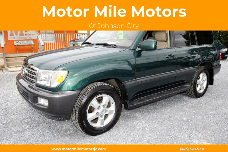 2004 Toyota Land Cruiser For Sale At Motor Mile Motors In Johnson City TN