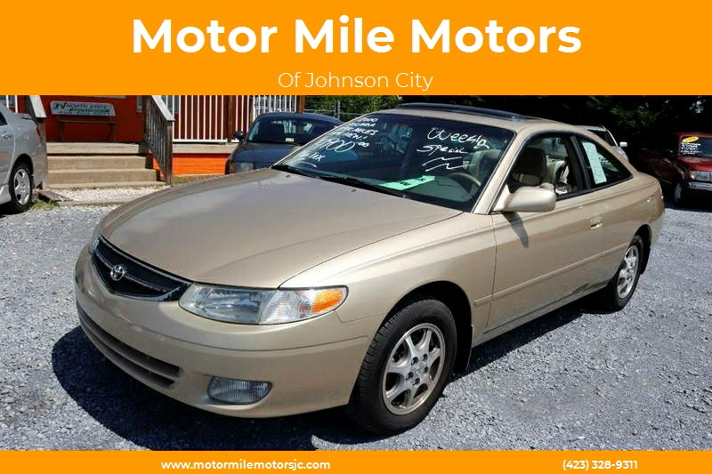 2000 Toyota Camry Solara For Sale At Motor Mile Motors In Johnson City TN