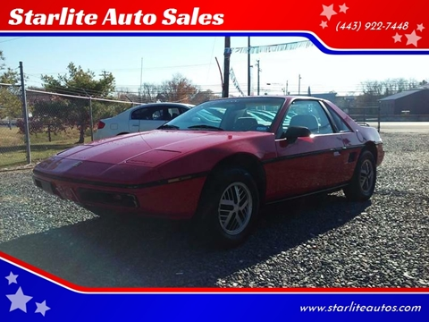1984 Pontiac Fiero for sale in Edgewood, MD