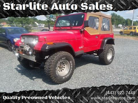 1993 Jeep Wrangler for sale in Edgewood, MD