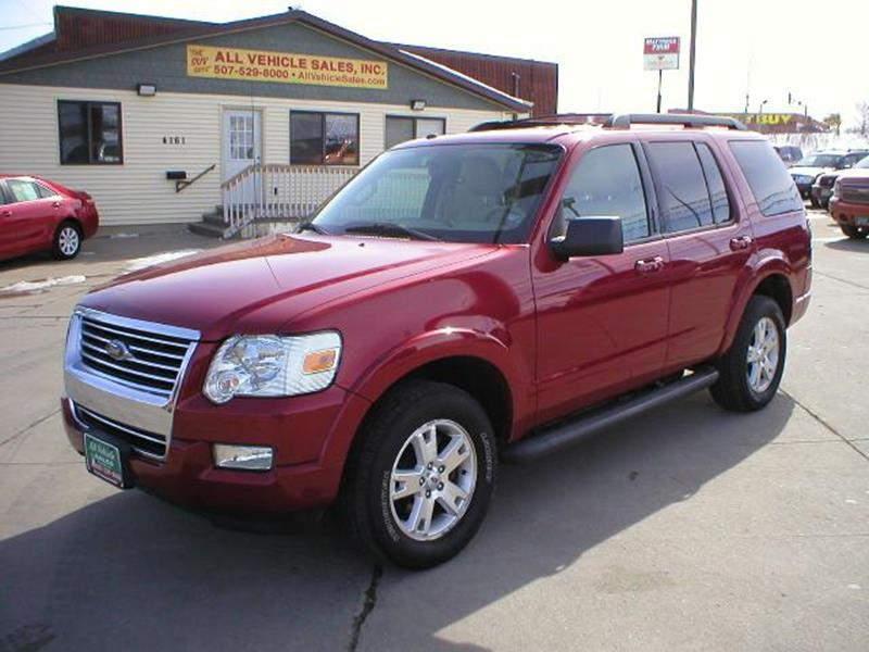 2010 ford explorer xlt in rochester mn - all vehicle sales inc